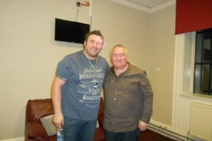 Backstage at Dundee Caird Hall with Allan Nimmo of Scottish Blues Rockers King King