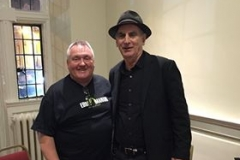 Hugh with E Street Band & The Sessions Band Saxophonist, Eddie Manion