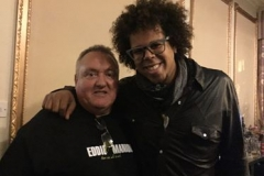 "Hugh with Jake Clemons, the other E Street Band Saxophonist, and Nephew of the late Clarence ""Big Man"" Clemons"