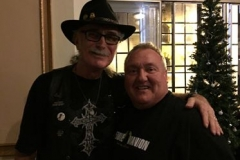 "Hugh with Original E Street Band Drummer, Vini ""Mad Dog"" Lopez"