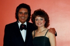 Tommy Truesdale with his special guest, Irish singer, Barbara Allen at the Palace Theatre, Kilmarnock