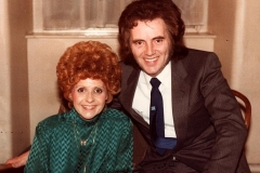 "Tommy Truesdale with international recording star ""Little Miss Dynamite"" Brenda Lee"