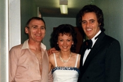 Clem Dane, Janie Kirk and Tommy Truesdale at Tommy's show, Girvan Beach Pavilion Theatre
