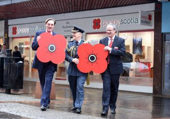 Air Marshal Gives Poppyscotland's Latest Venture Its Official Opening