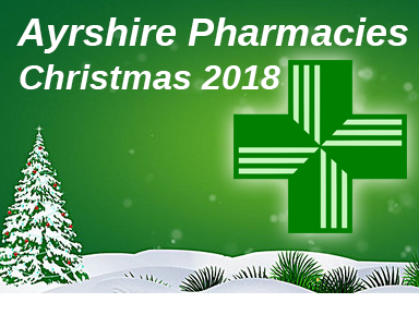 Chemists open in Ayrshire over the Christmas holidays 2018