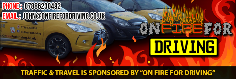 On Fire For Driving Sponsors Traffic & Travel