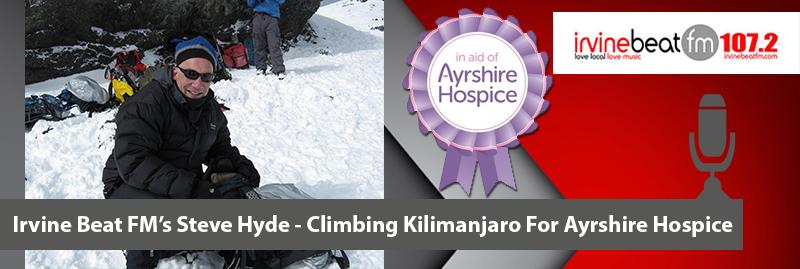 Irvine Beat FM's Steve Hyde Climbs Kilimanjaro for Ayrshire Hospice