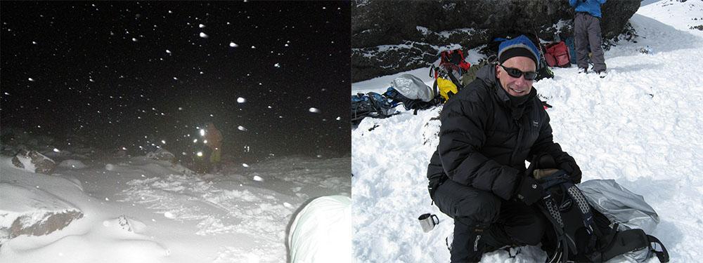 Stella Point on the way up Kilimanjaro